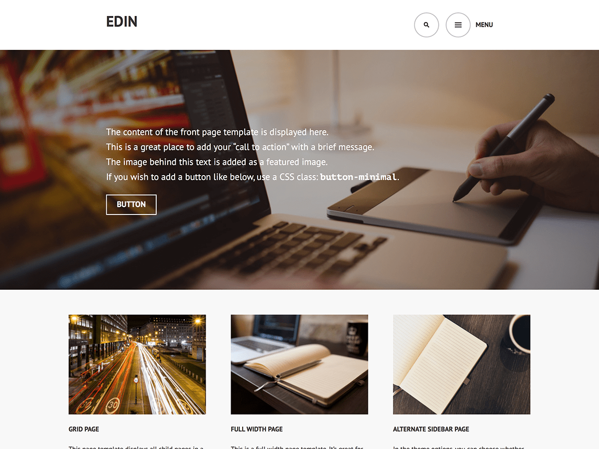 Download Edin 1.3.3 – Free WordPress Theme