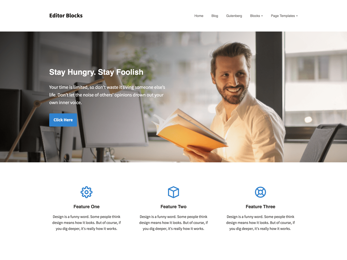 Download Editor Blocks 1.0.5 – Free WordPress Theme