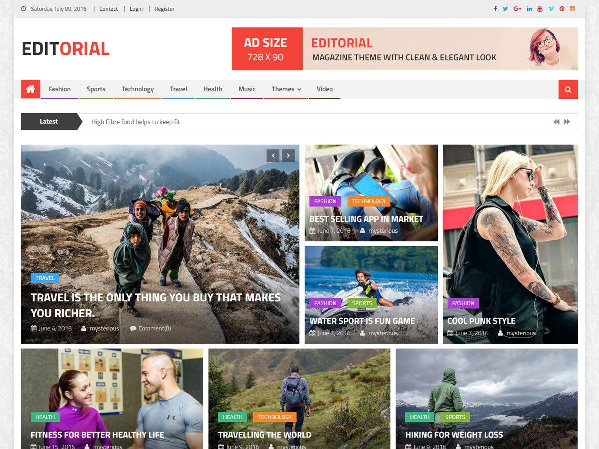 Download Editorial 1.3.5 – Free WordPress Theme