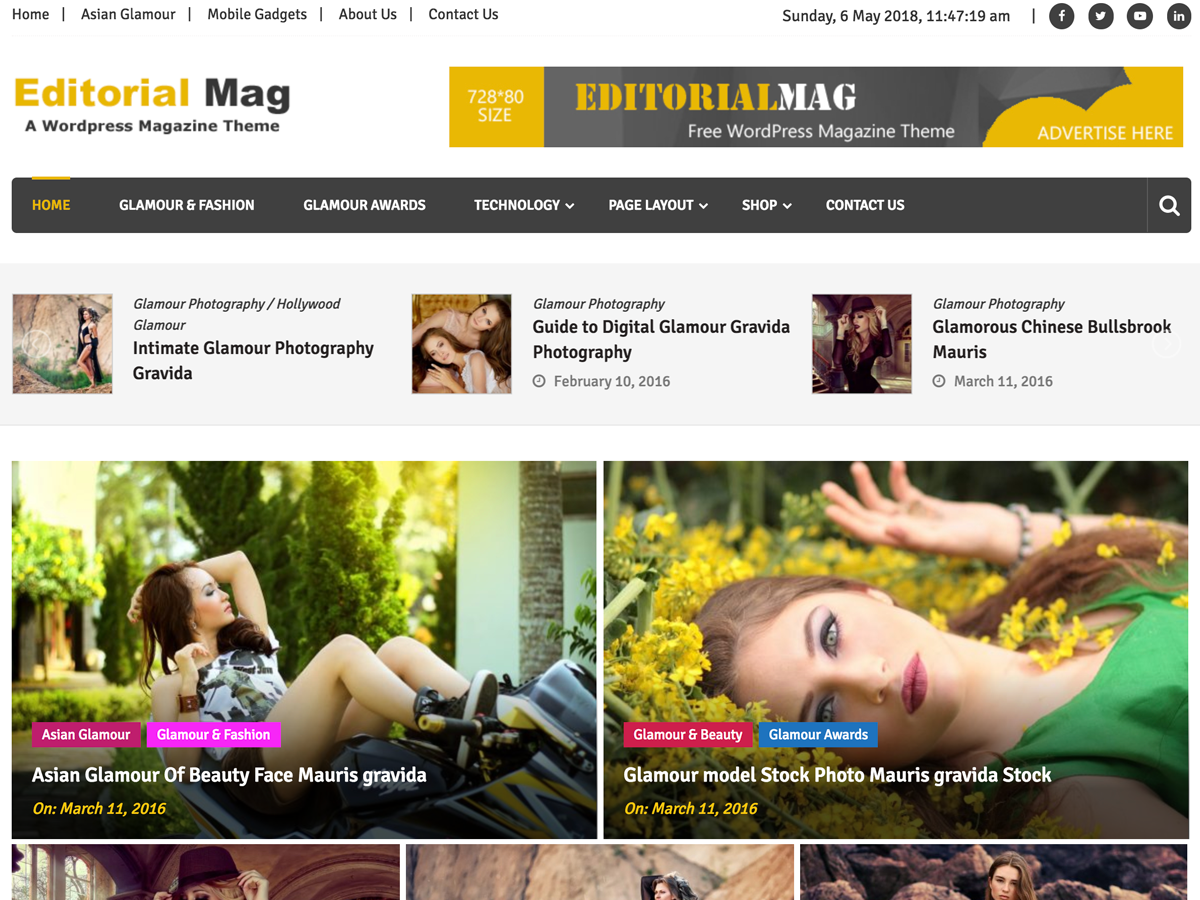 Download Editorialmag 1.1.4 – Free WordPress Theme