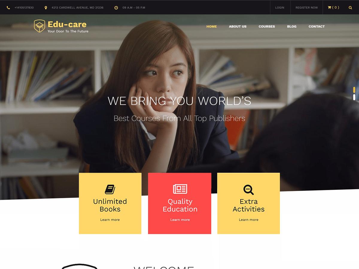 Download Edu Care 1.0.4 – Free WordPress Theme