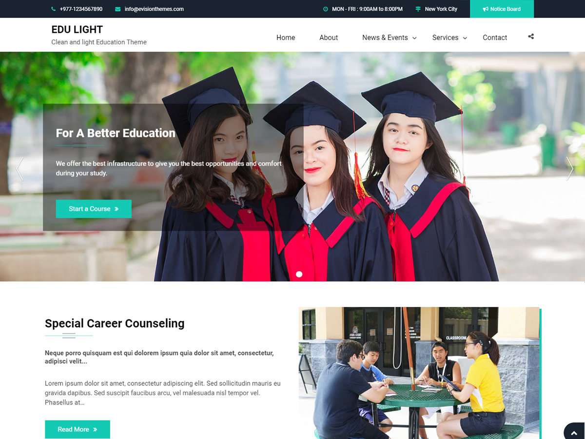 Download Edu Light 1.0.4 – Free WordPress Theme