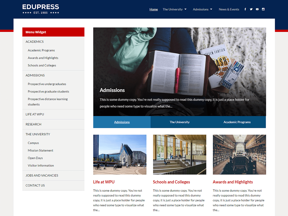 Download EduPress 1.4 – Free WordPress Theme