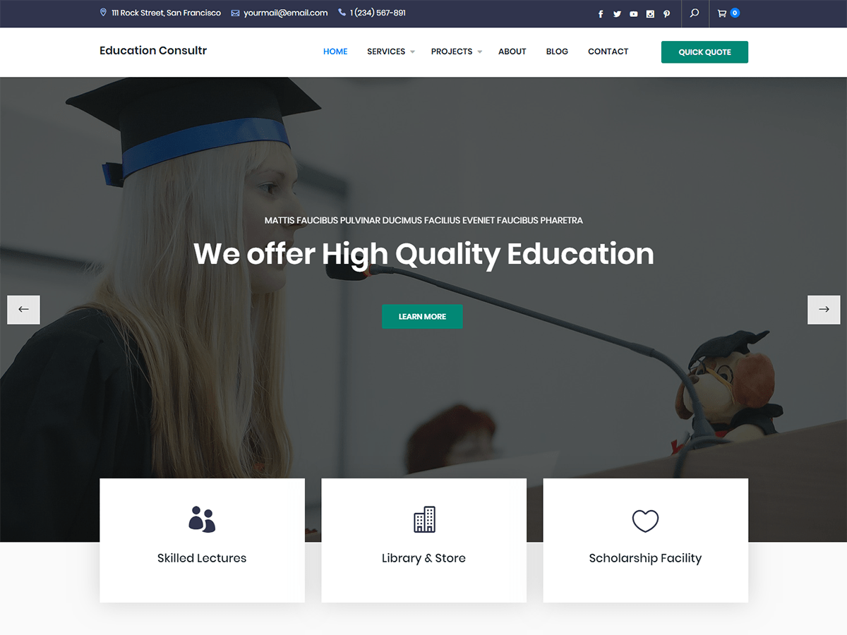 Download Education Consultr 1.0.0 – Free WordPress Theme
