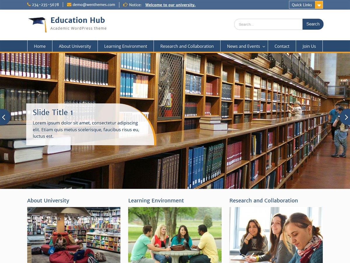 Download Education Hub 1.9.7 – Free WordPress Theme
