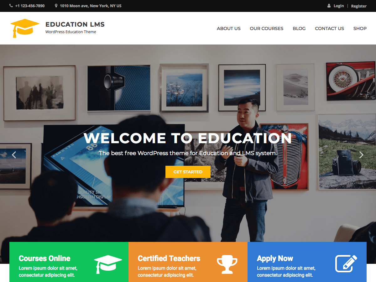 Download Education LMS 0.0.5 – Free WordPress Theme