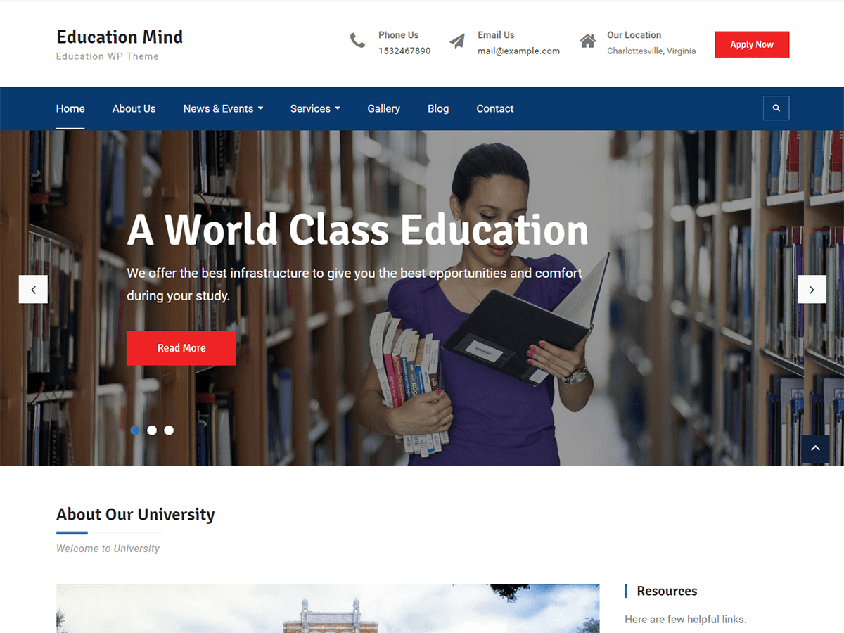 Download Education Mind 1.0.5 – Free WordPress Theme