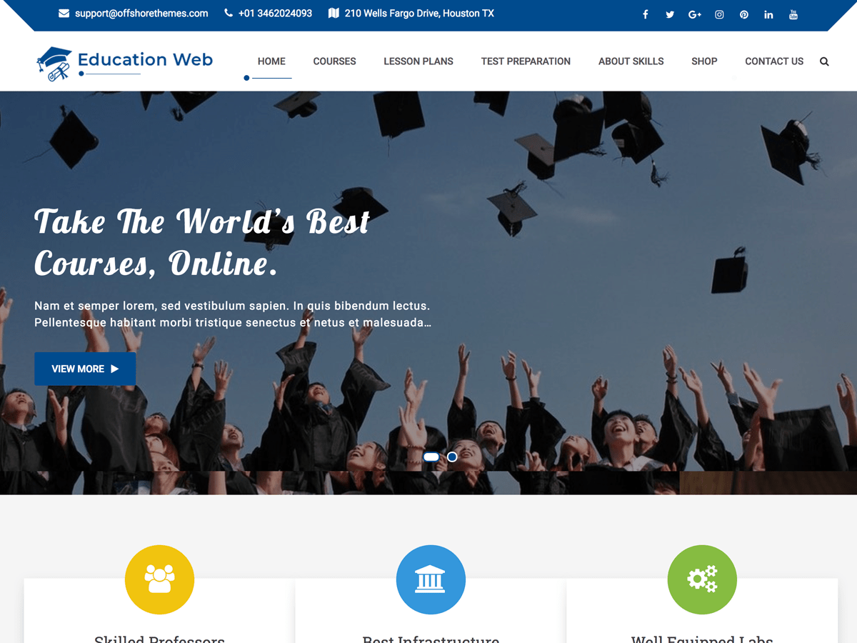 Download Education Web 1.0.6 – Free WordPress Theme