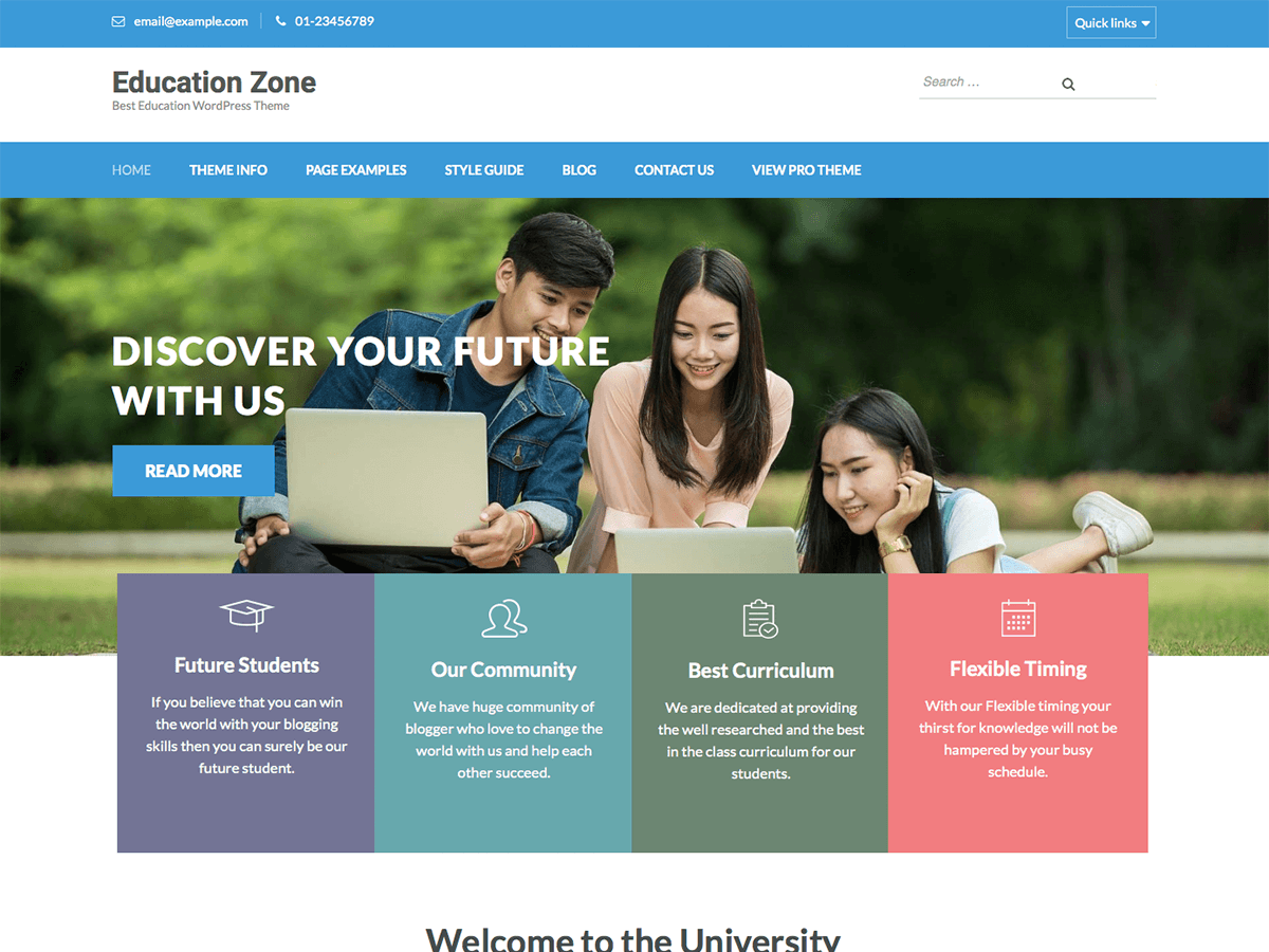 Download Education Zone 1.1.6 – Free WordPress Theme
