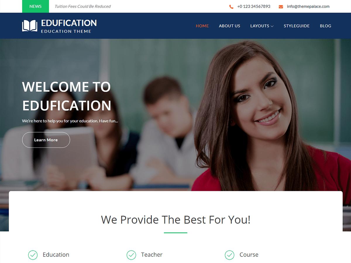 Download Edufication 1.0.5 – Free WordPress Theme