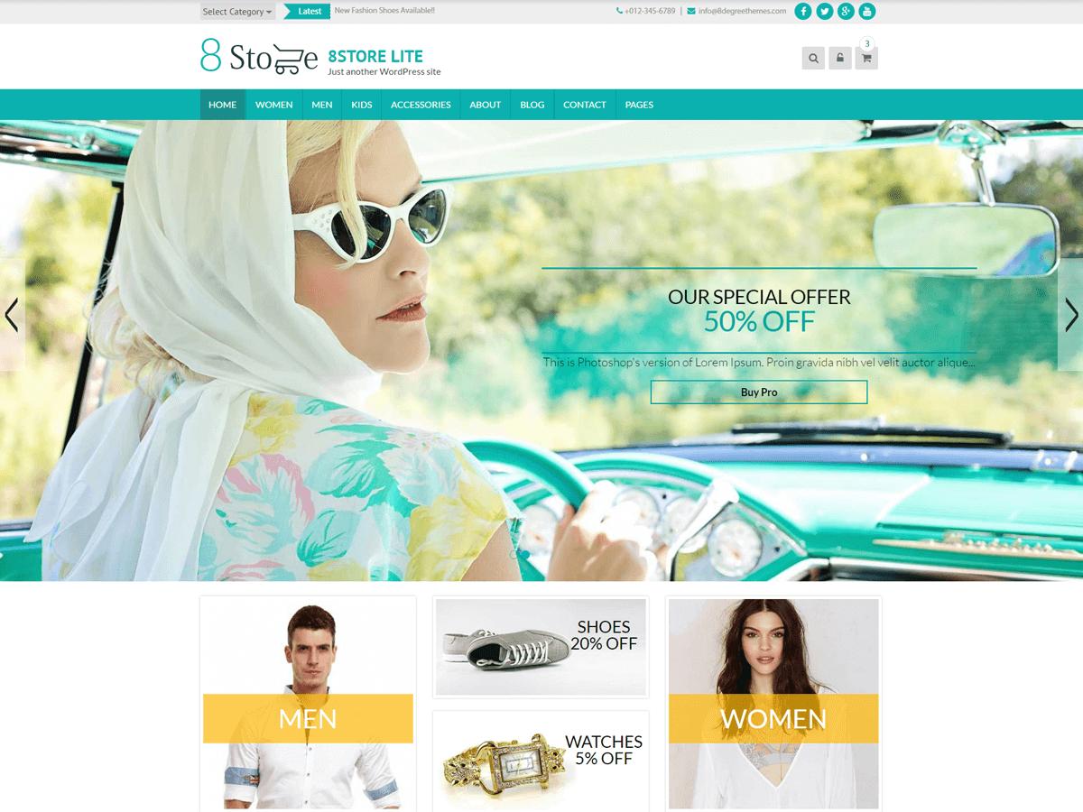 Download EightStore Lite 1.0.93 – Free WordPress Theme