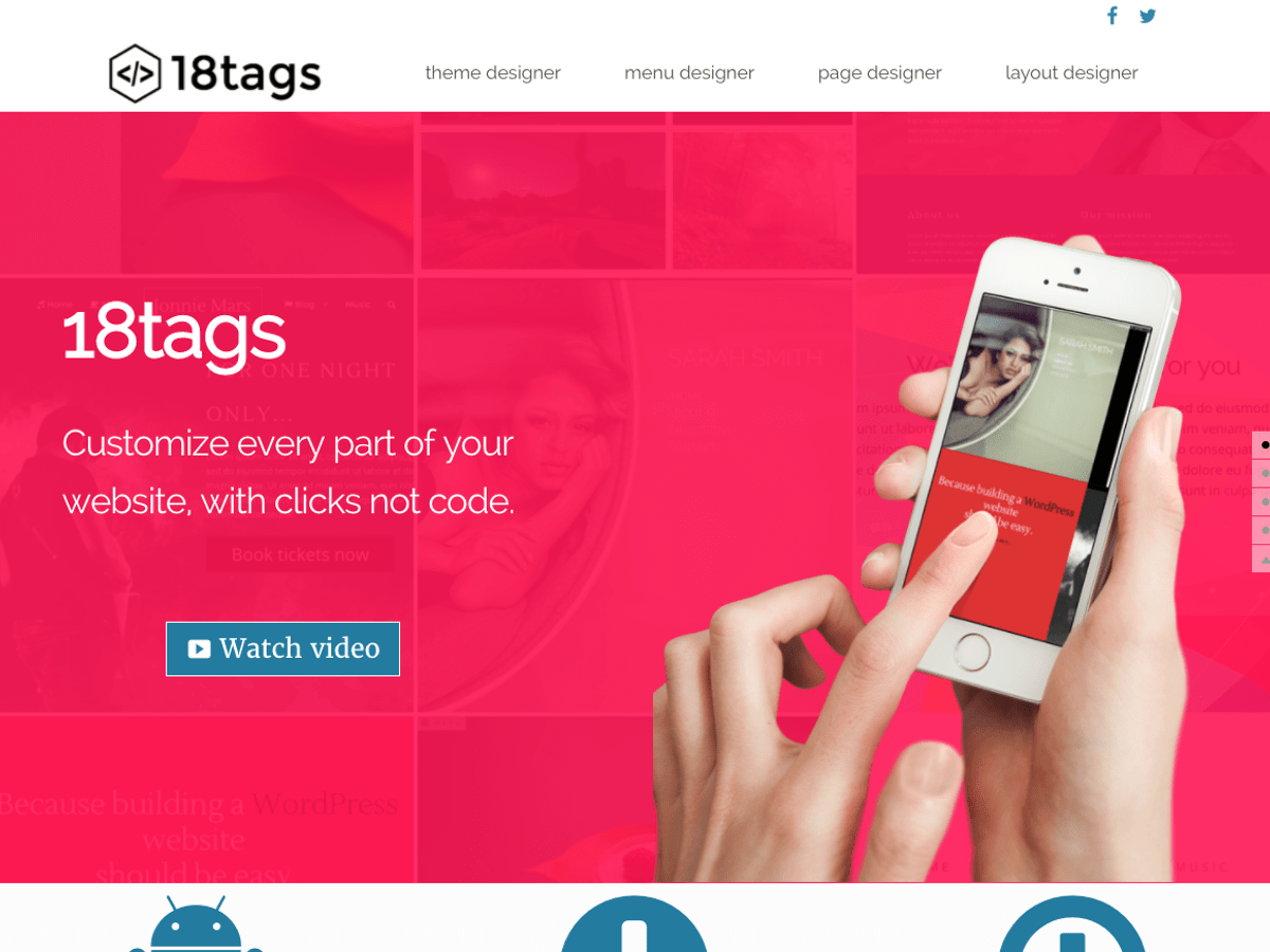 Download Eighteen tags 2.7.1 – Free WordPress Theme