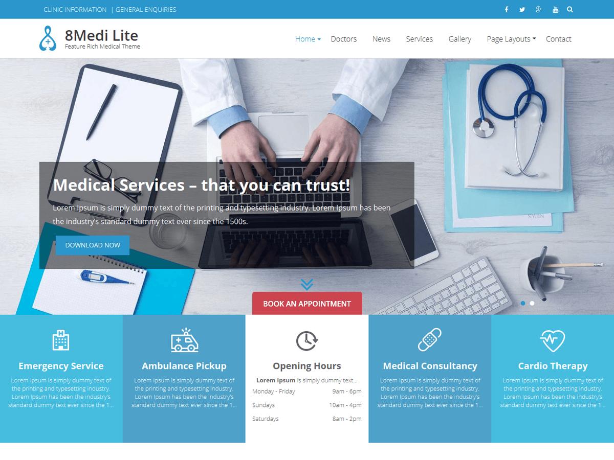 Download Eightmedi Lite 2.0.3 – Free WordPress Theme