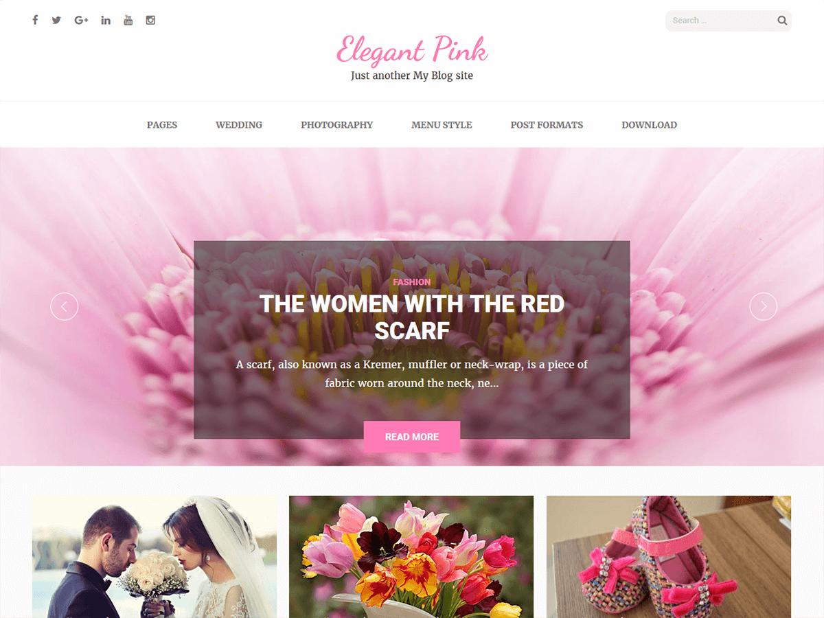 Download Elegant Pink 1.1.8 – Free WordPress Theme
