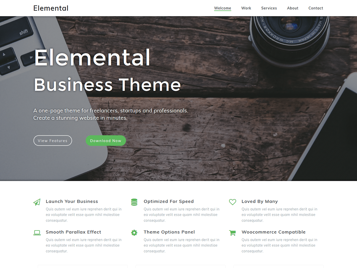 Download Elemental 1.1.4 – Free WordPress Theme