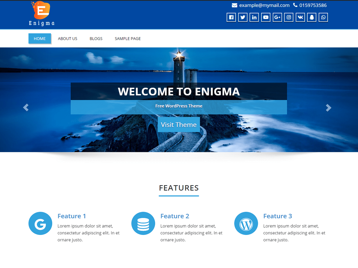 Download Enigma 4.7 – Free WordPress Theme