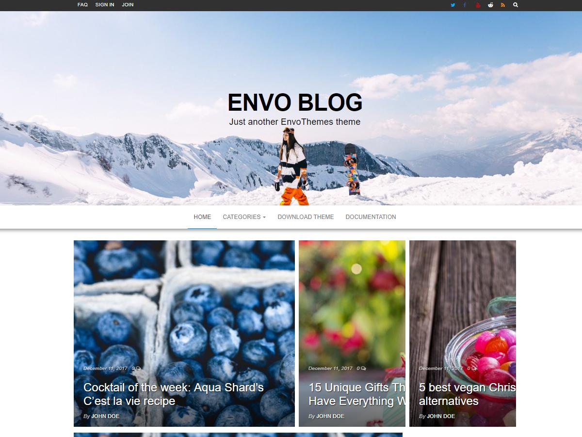 Download Envo Blog 1.1.3 – Free WordPress Theme
