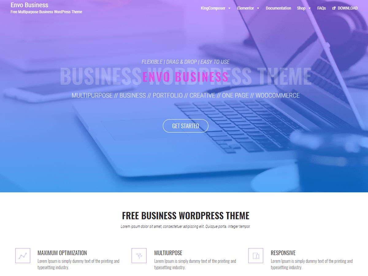 Download Envo Business 1.0.7 – Free WordPress Theme
