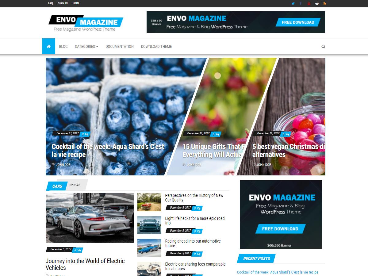 Download Envo Magazine 1.3.5 – Free WordPress Theme