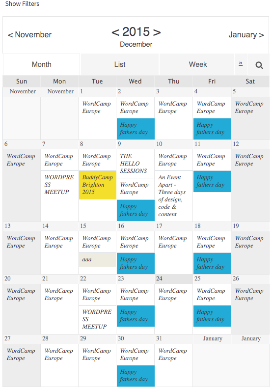 Download Event Calendar WD – Responsive Event Calendar plugin 1.1.21 – Free WordPress Plugin