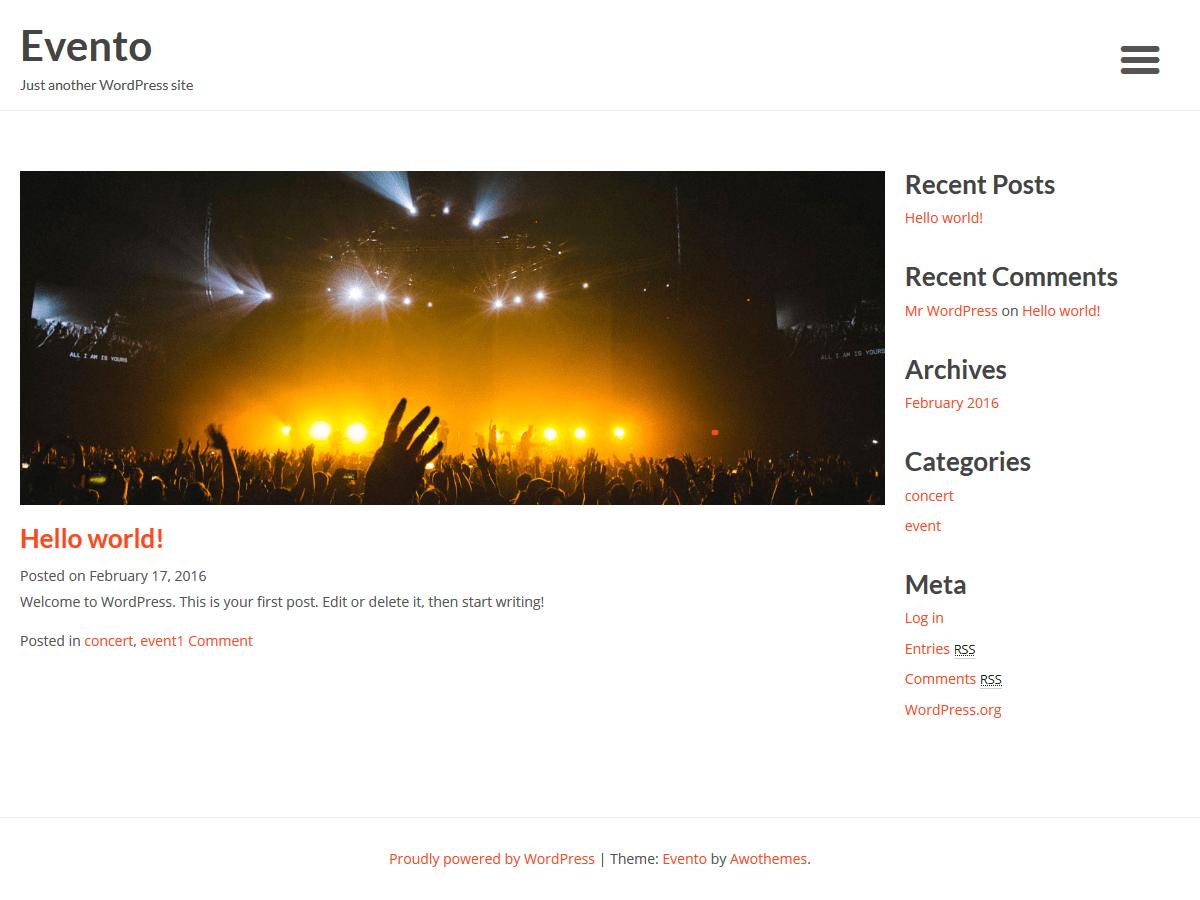 Download Evento 1.0.9 – Free WordPress Theme