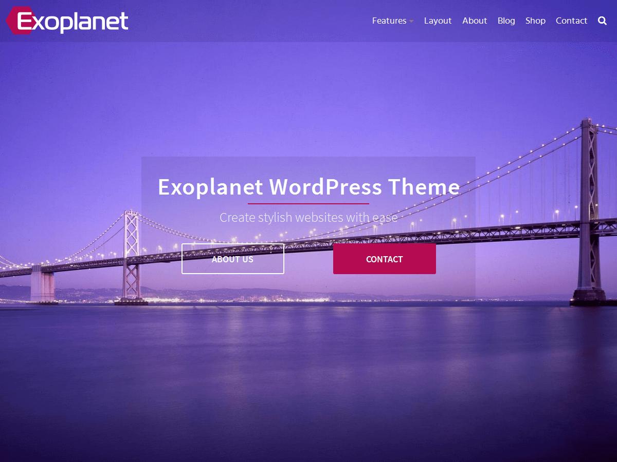 Download Exoplanet 1.7.3 – Free WordPress Theme
