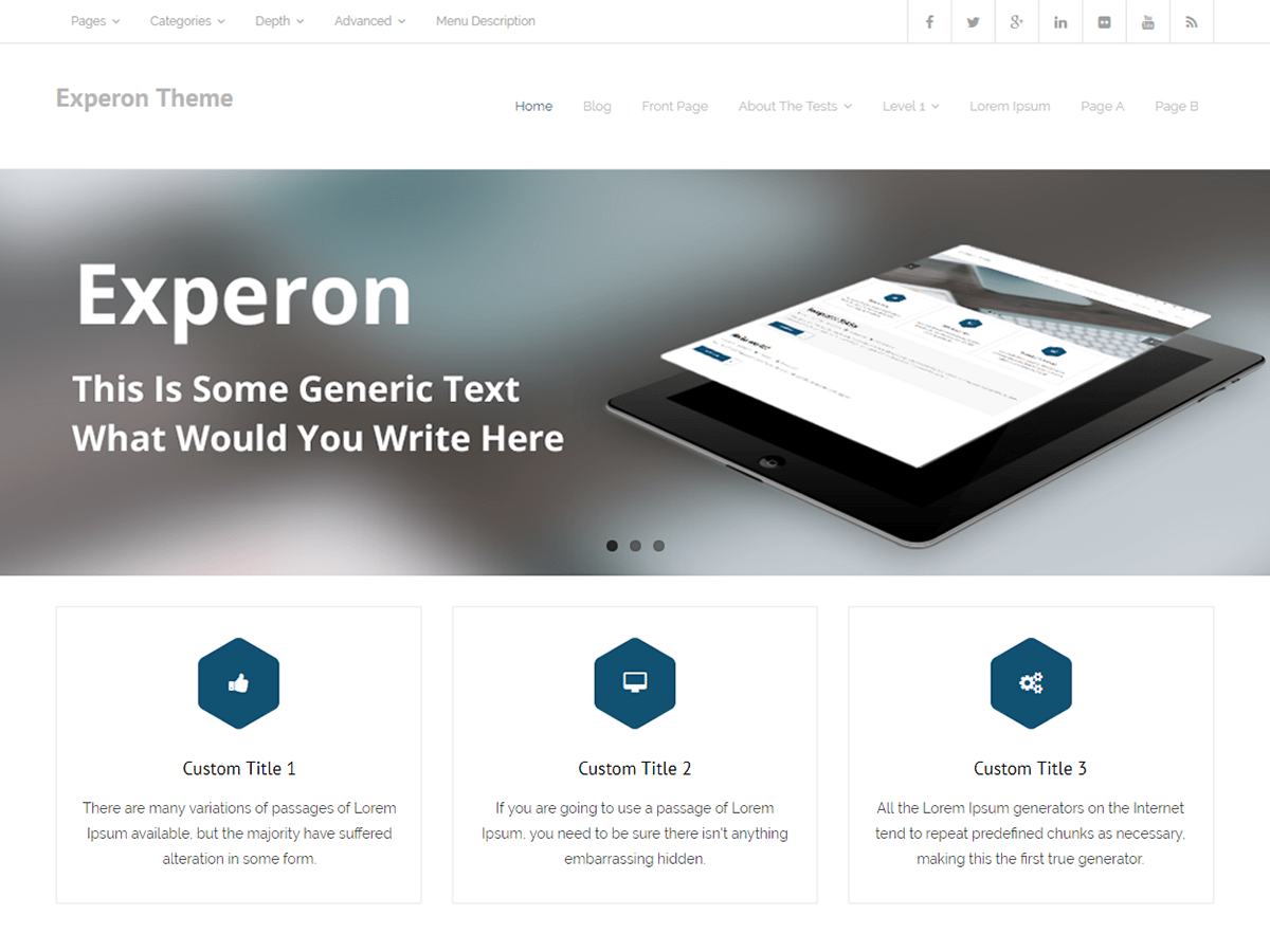 Download Experon 1.3.5 – Free WordPress Theme