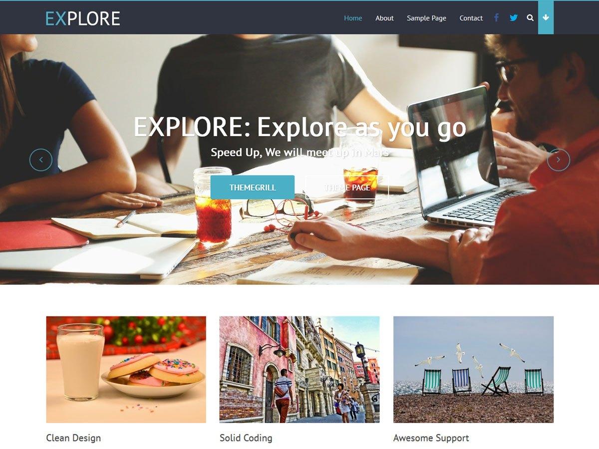 Download Explore 1.0.9 – Free WordPress Theme