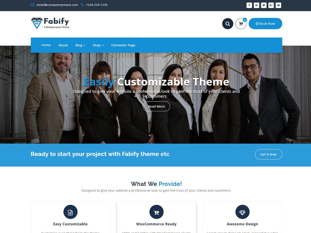 Download Fabify 1.0.28 – Free WordPress Theme