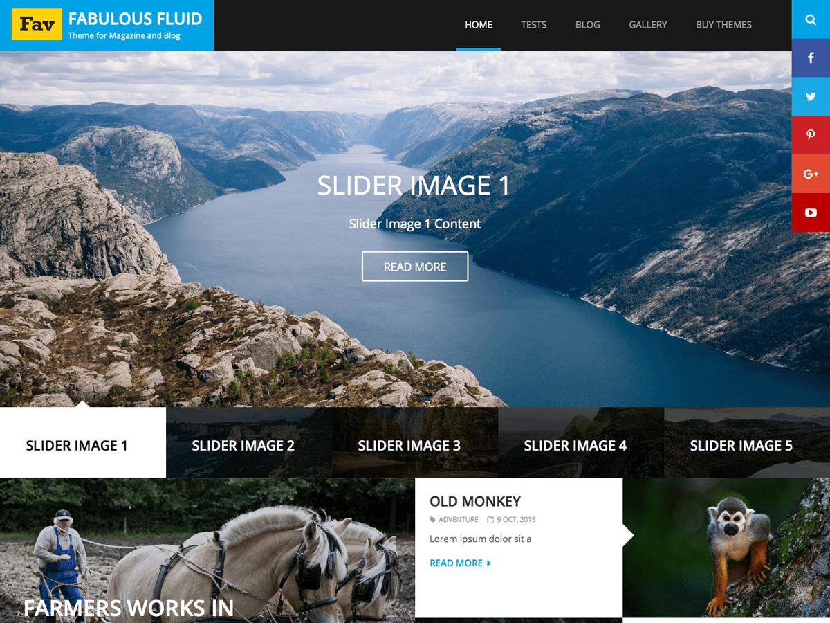 Download Fabulous Fluid 1.6 – Free WordPress Theme