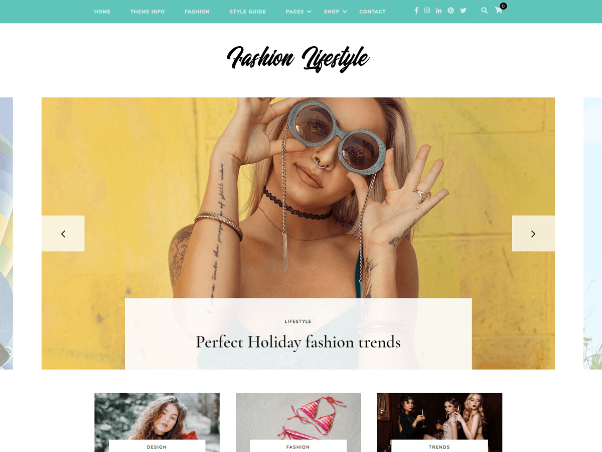 Download Fashion Lifestyle 1.0.1 – Free WordPress Theme