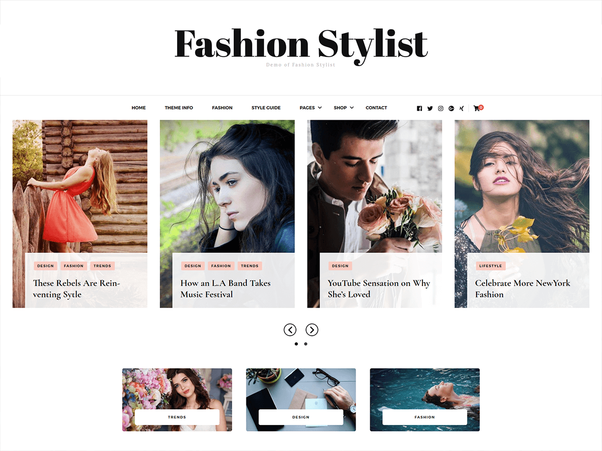 Download Fashion Stylist 1.0.1 – Free WordPress Theme