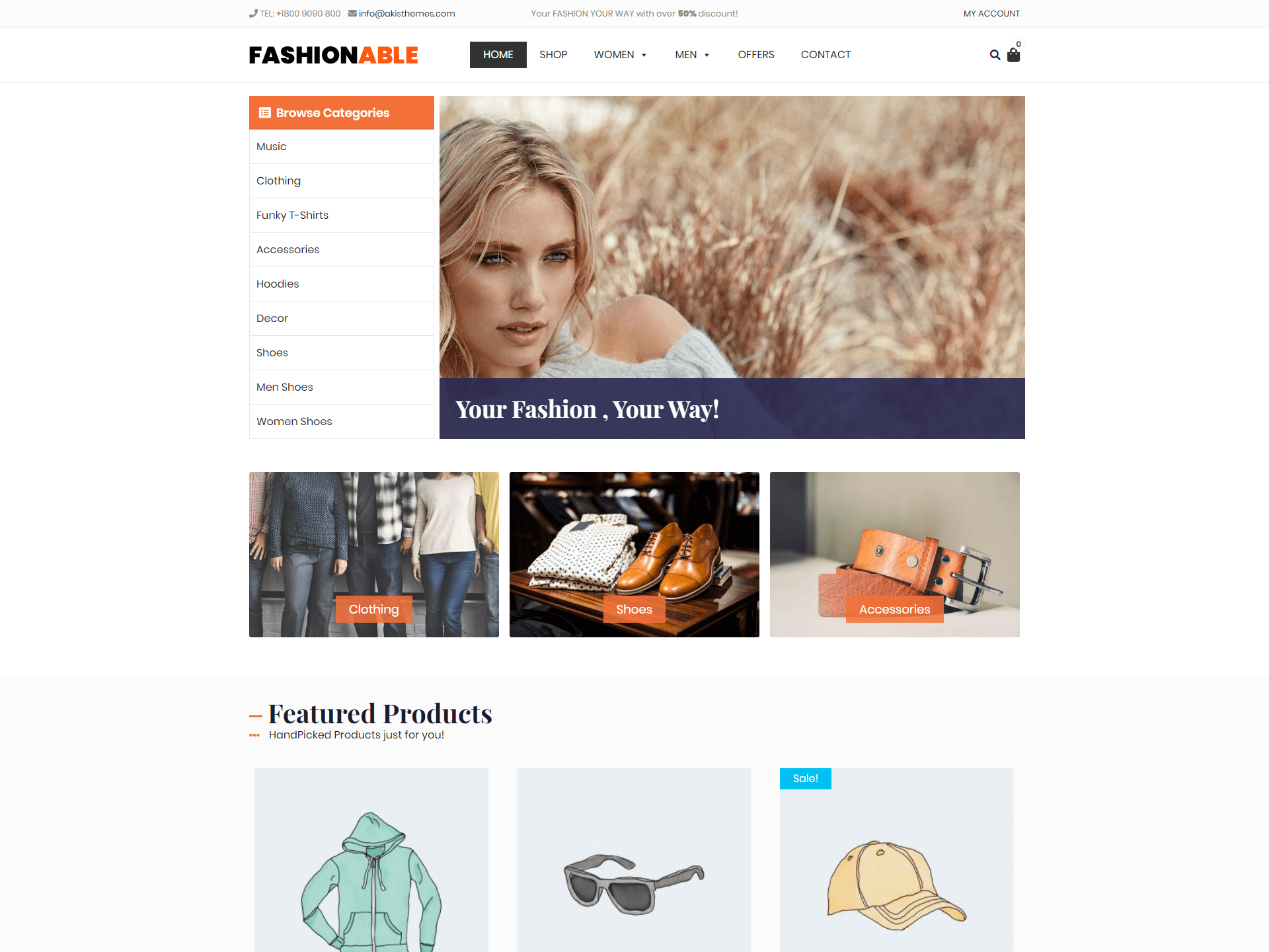 Download Fashionable Store 1.1.6 – Free WordPress Theme