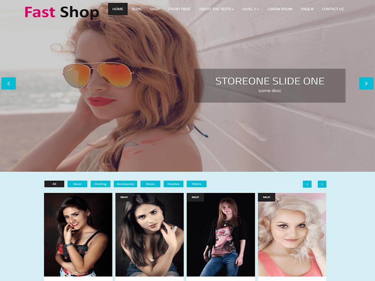 Download Fast Shop 1.1 – Free WordPress Theme