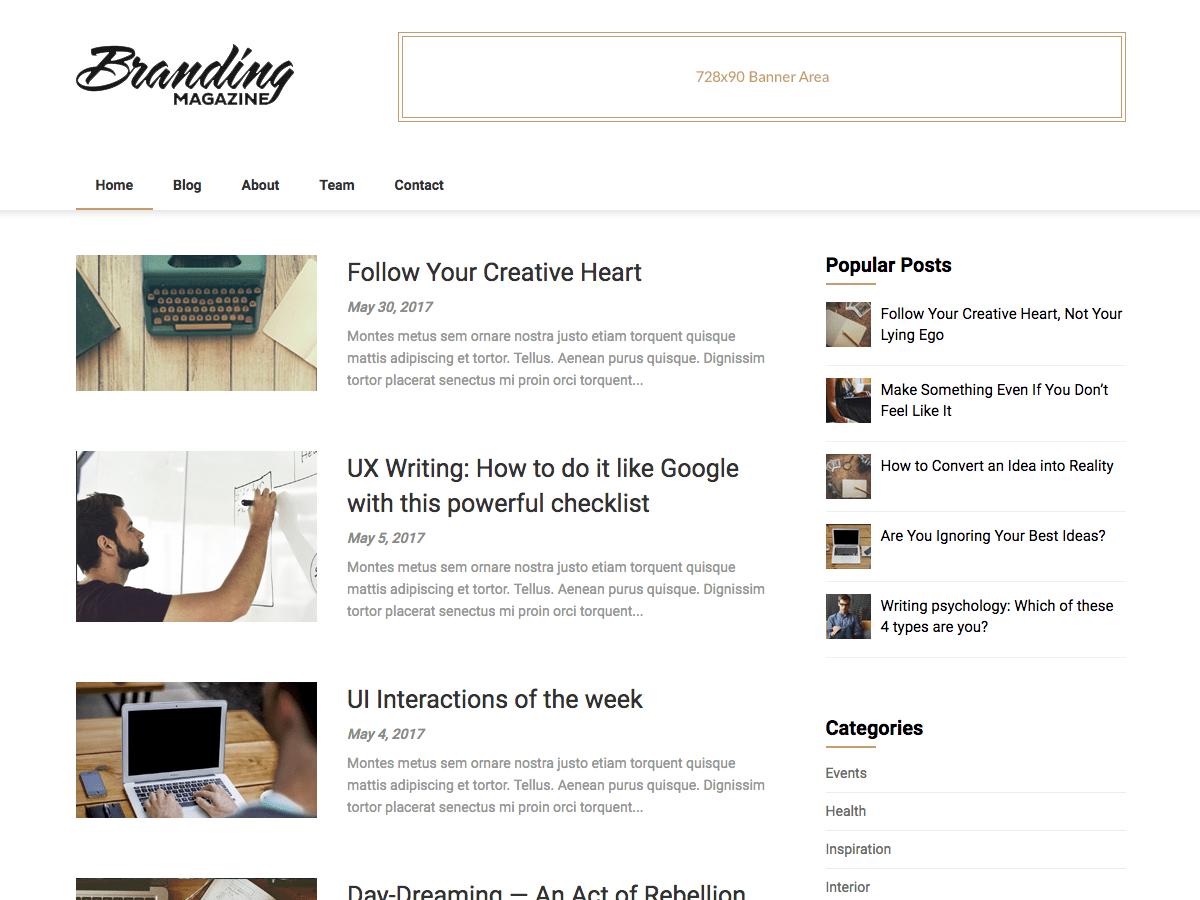 Download Feather Magazine 2.0 – Free WordPress Theme