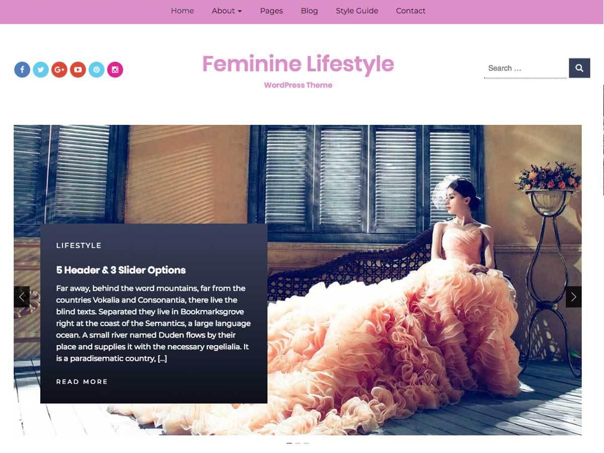 Download Feminine Lifestyle 1.0.2 – Free WordPress Theme