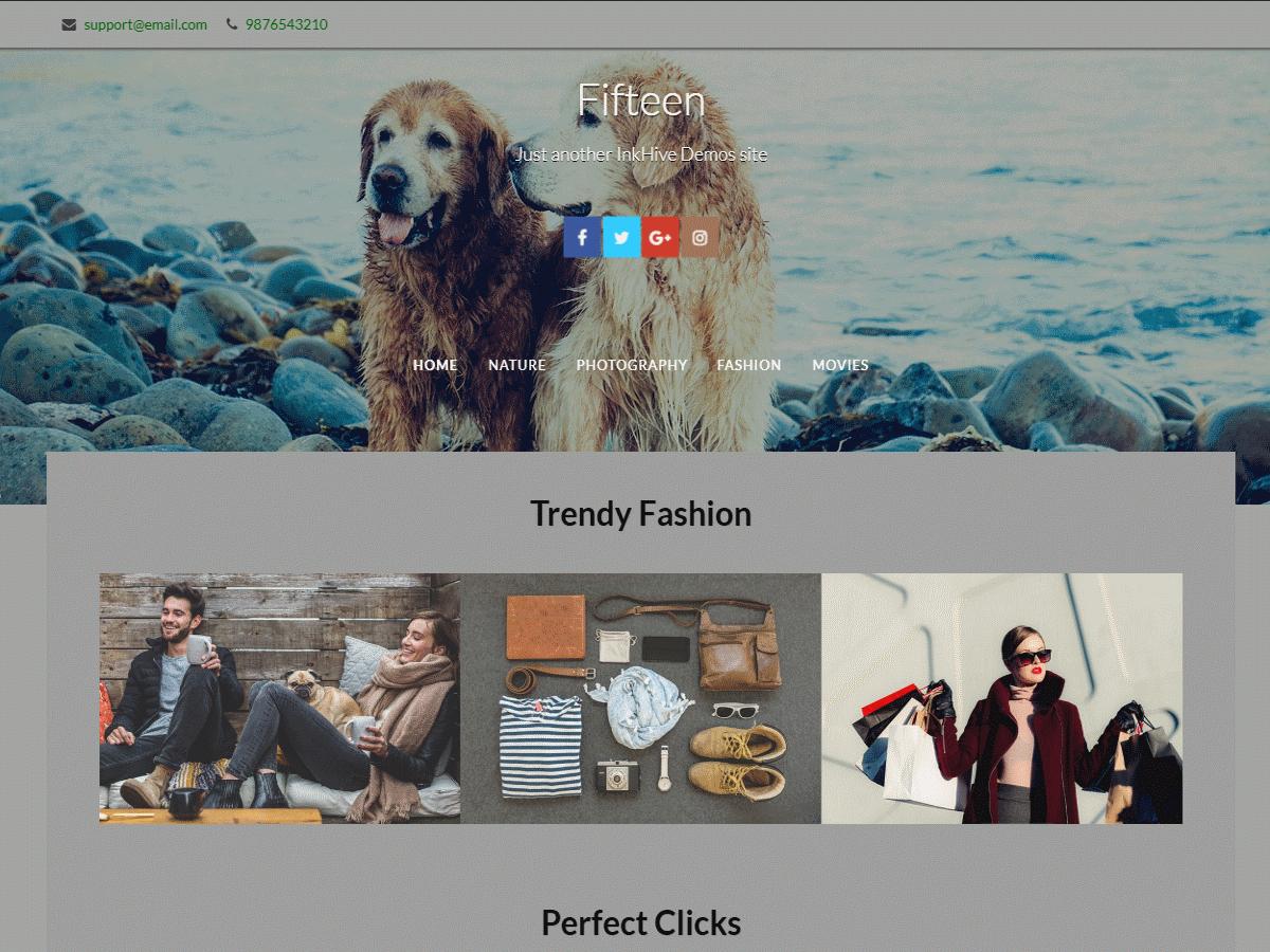 Download Fifteen 2.1.9 – Free WordPress Theme