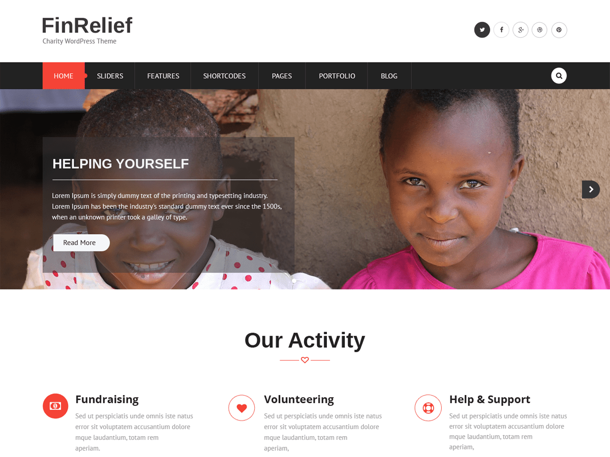 Download FinRelief 1.0.5 – Free WordPress Theme