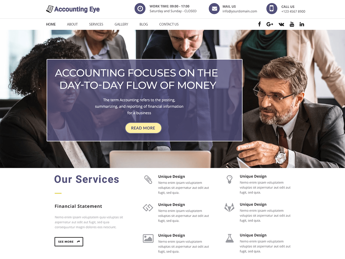 Download Finance Accounting 0.4.1 – Free WordPress Theme
