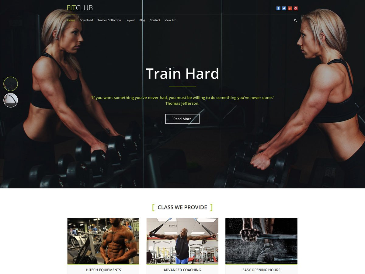 Download FitClub 1.1.5 – Free WordPress Theme