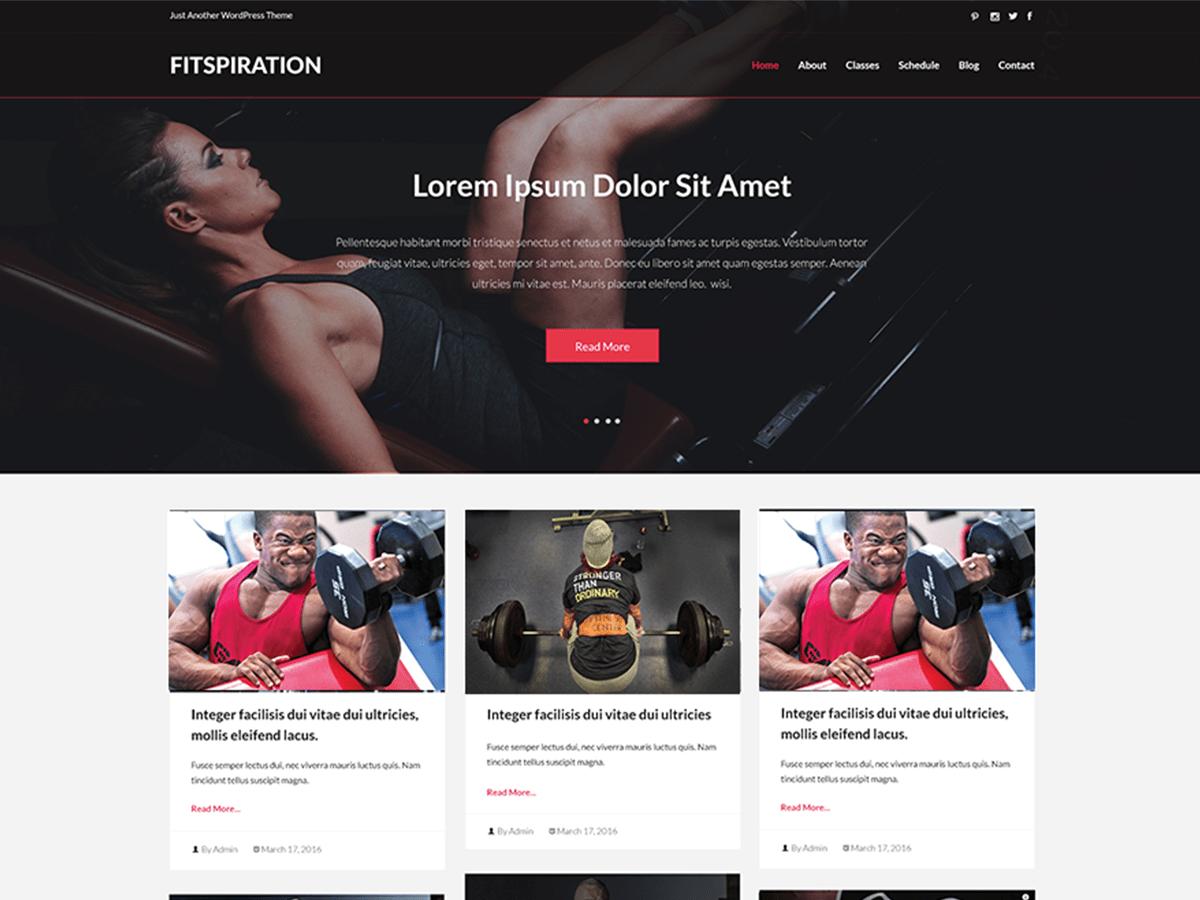 Download Fitspiration 2.0.1 – Free WordPress Theme