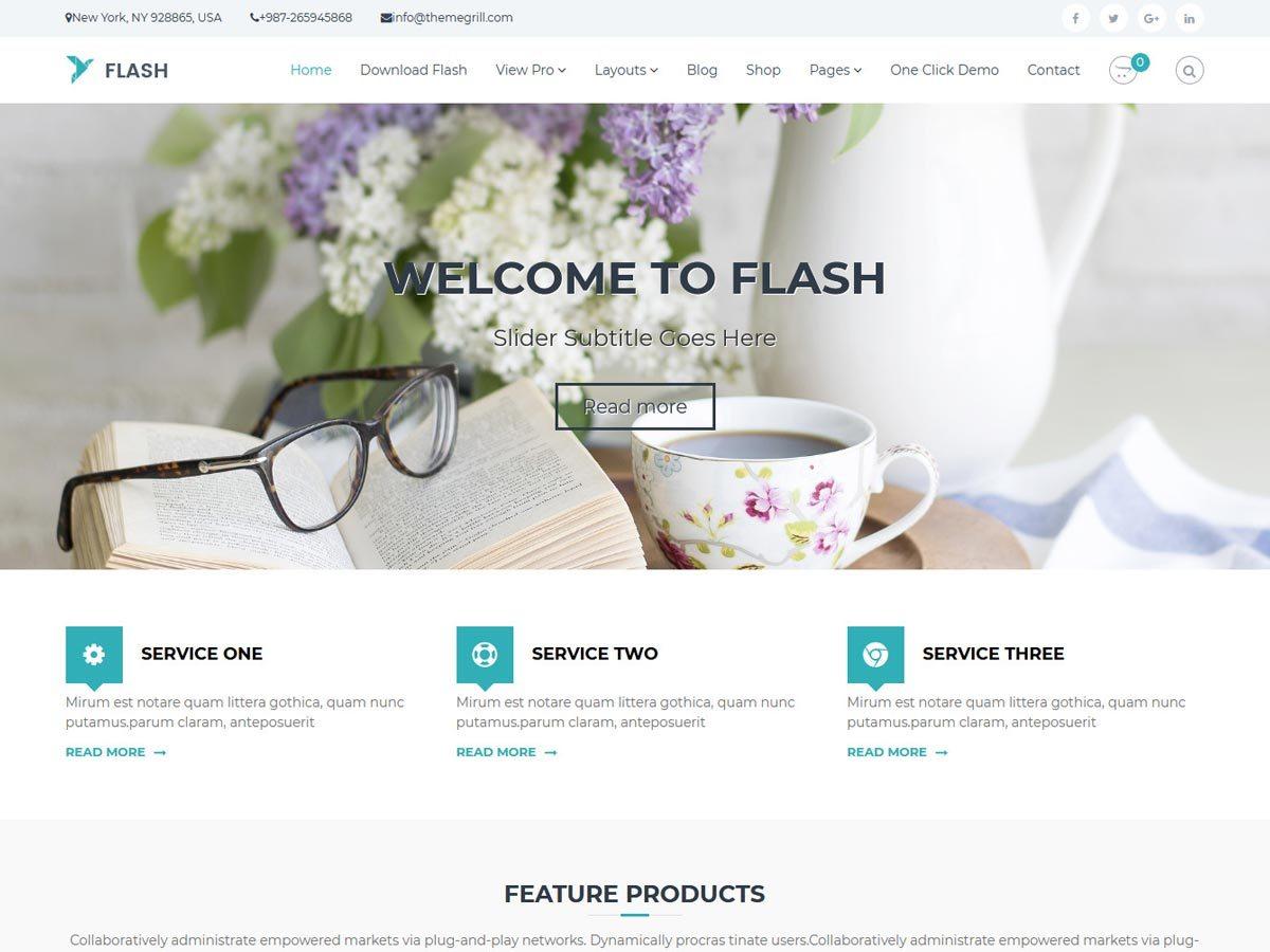 Download Flash 1.2.3 – Free WordPress Theme