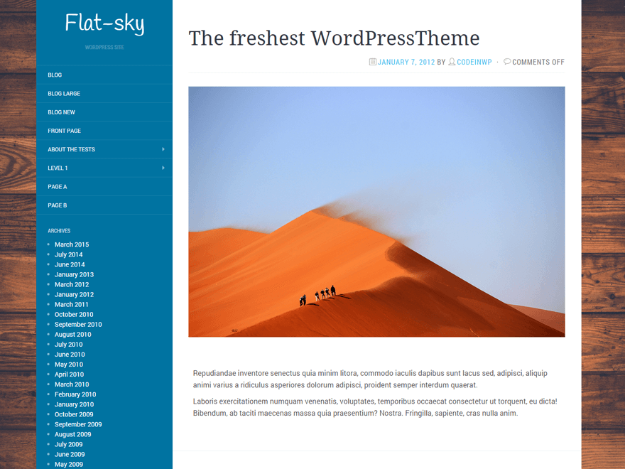 Download Flat-Sky 1.0.4 – Free WordPress Theme