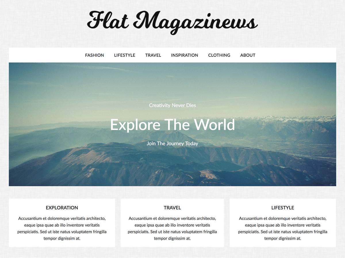 Download FlatMagazinews 1.2 – Free WordPress Theme
