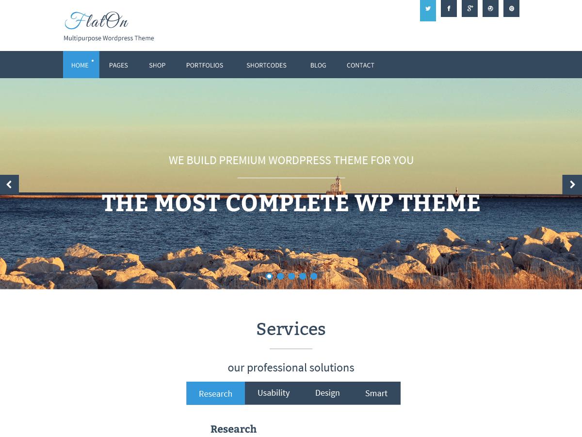 Download FlatOn 1.2.3 – Free WordPress Theme