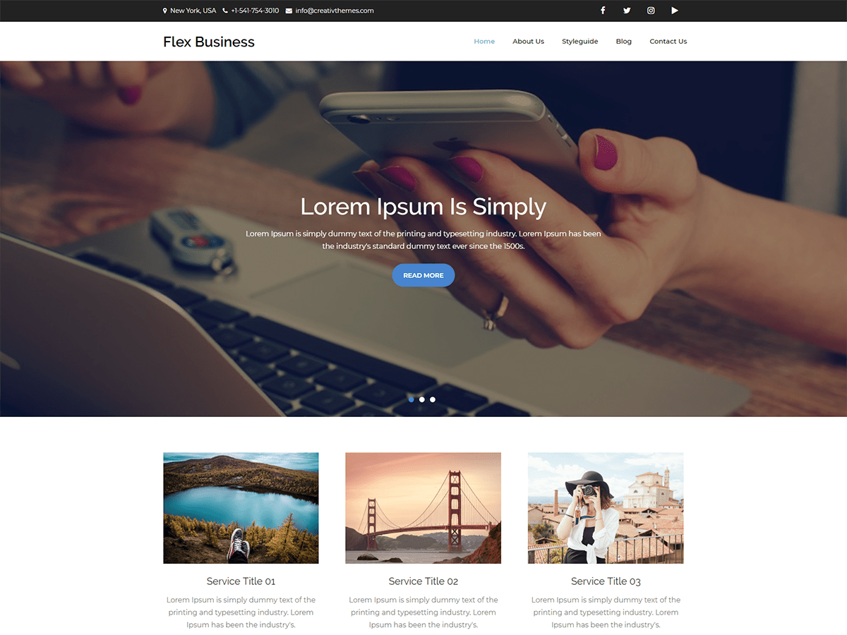Download Flex Business 1.2 – Free WordPress Theme