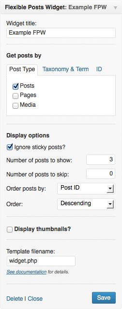 Download Flexible Posts Widget 3.5.0 – Free WordPress Plugin