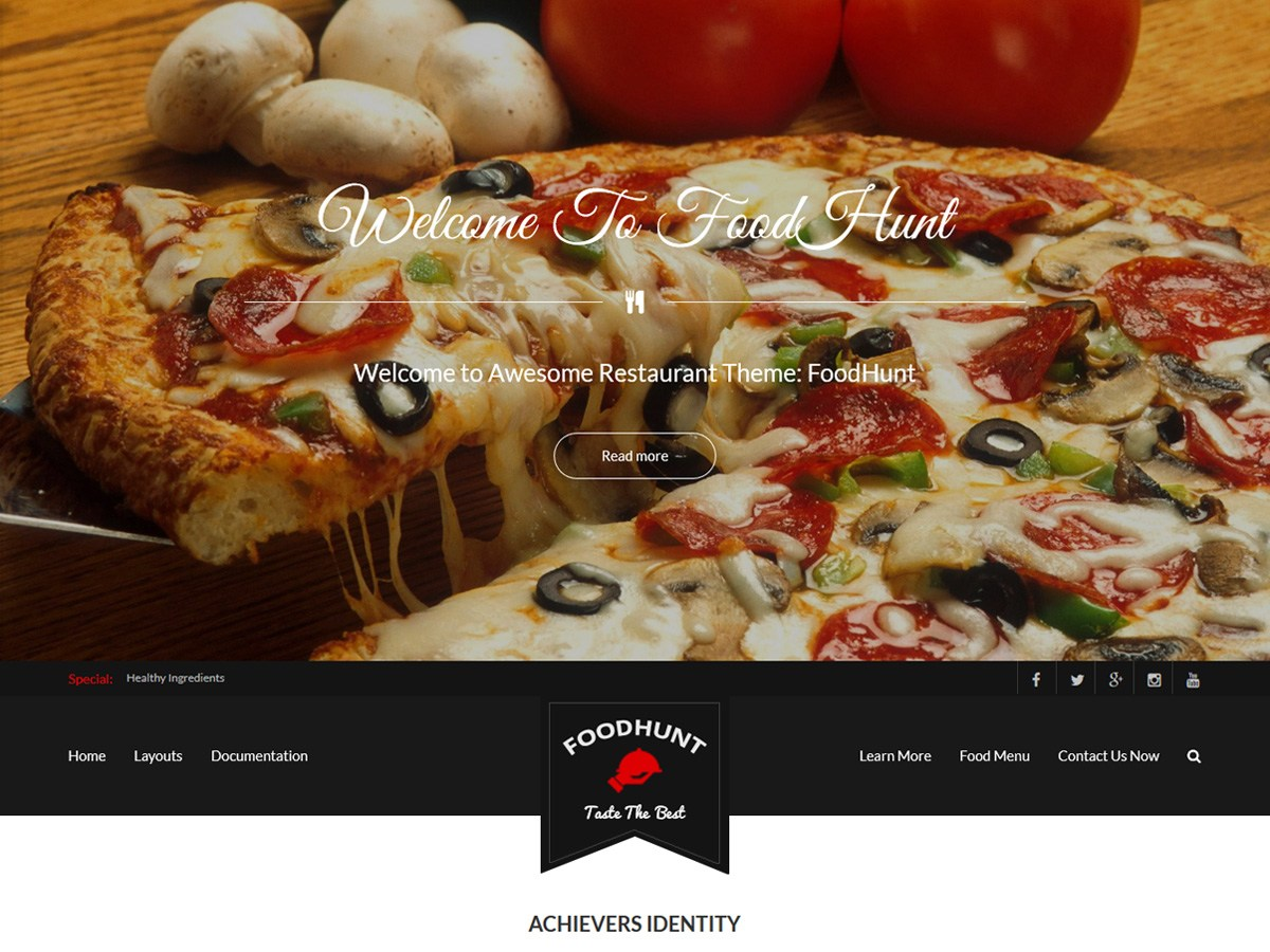Download FoodHunt 1.2.4 – Free WordPress Theme