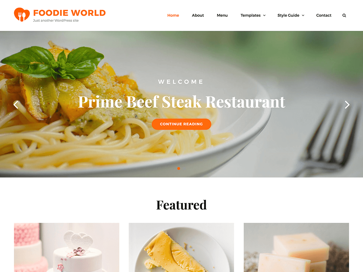 Download Foodie World 1.1.1 – Free WordPress Theme