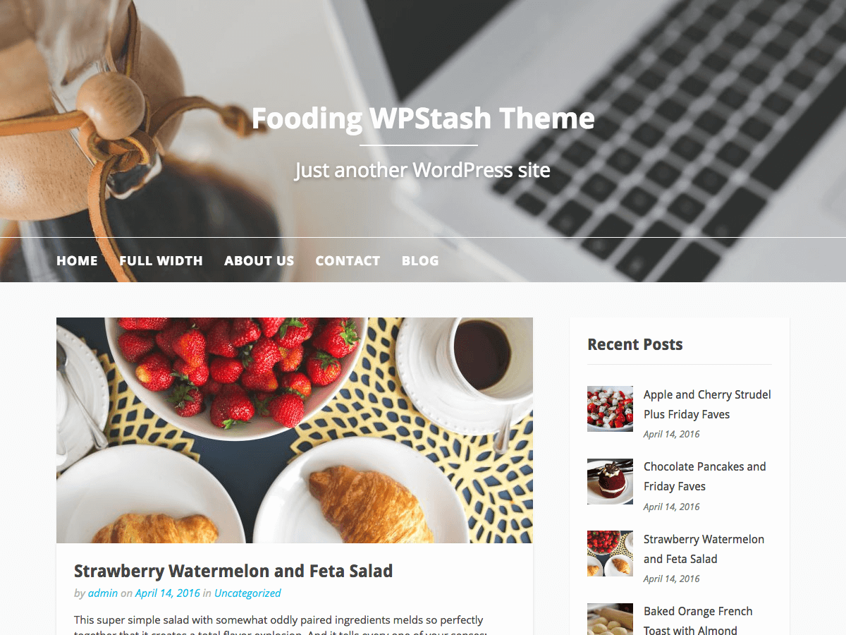 Download Fooding 0.0.7 – Free WordPress Theme